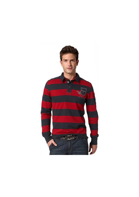 Tom Tailor triko s límečkem a dlouhým rukávem