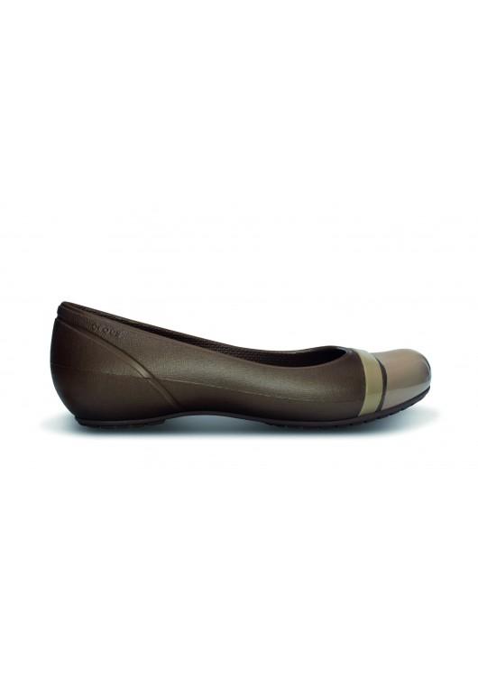 Crocs Cap Toe Flat Bronze