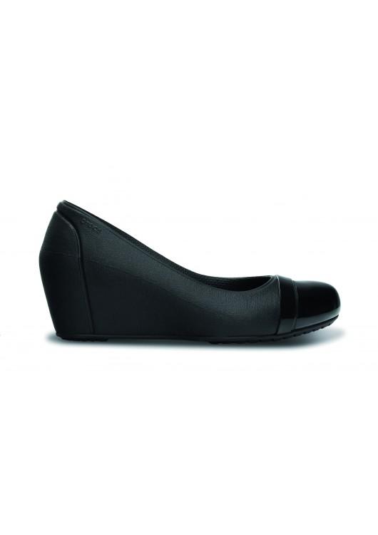 Crocs Cap Toe Wedge Black