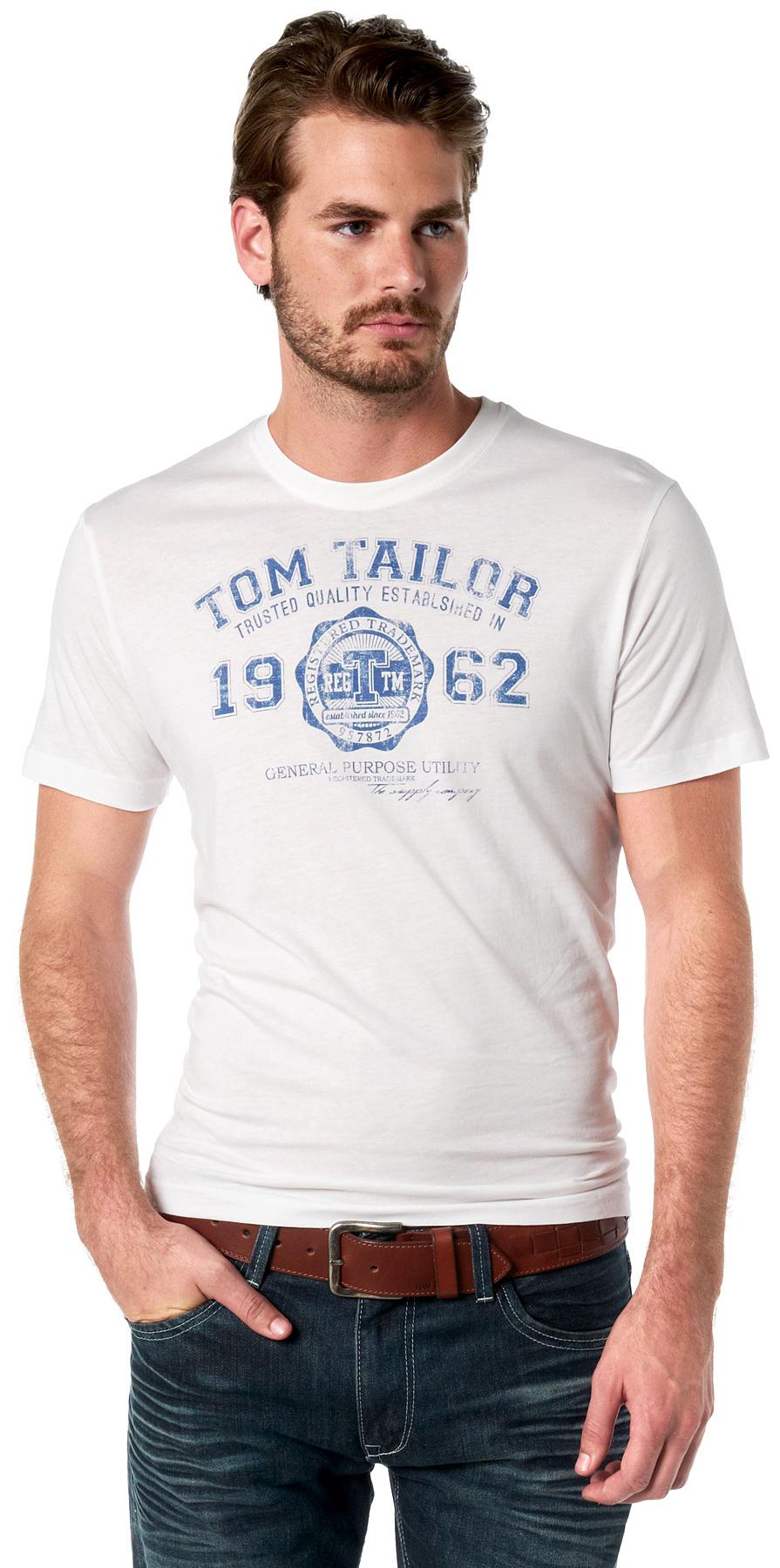 Tom Tailor pánské triko 10235490910/2000 Bílá XXL