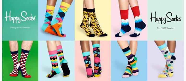 Happy socks - módní barevné ponožky